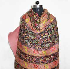 handwoven and embroidered cashmere pashmina shawls